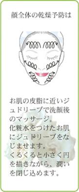 顔全体の乾燥予防は