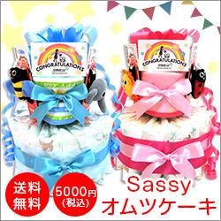 【5,000円送料無料】Sassyオムツケーキ