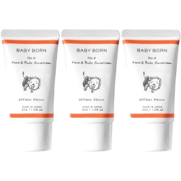BABY BORN Face&Body Sunscreen 3個セット 商品画像